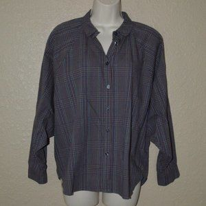 NWT $276 XS S The Great Plaid Long Sleeve Blouse